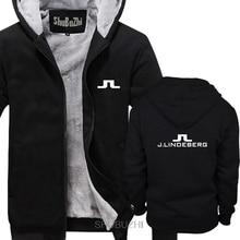 Logotipo dos homens do vintage grosso hoodies j lindeberg golfista frete grátis casual masculino com capuz masculino cômico masculino inverno quente jaqueta sbz6273