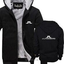 Sudaderas con capucha gruesas con Logo Vintage para hombre, golfista, J Lindeberg, Envío Gratis, informal, chaqueta cálida de invierno, sbz6273