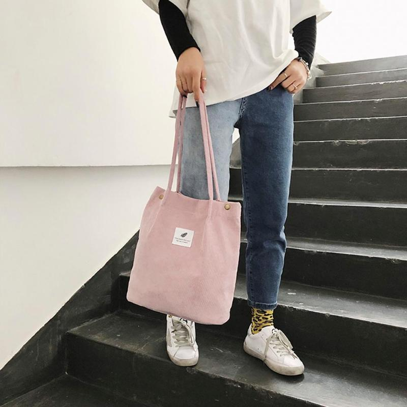 Women Canvas Handbags Fashion Pure High-quality High-capacity Lightweight Portable Shoulder Bag Simple Lunch Shopping Tote