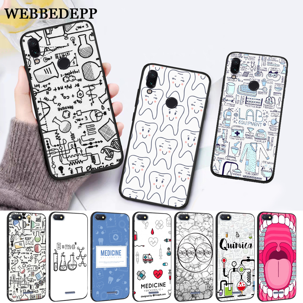 WEBBEDEPP Biology and Chemistry Silicone Case for Xiaomi Redmi Note 4X 5 6 7 Pro 5A Prime in Fitted Cases from Cellphones Telecommunications