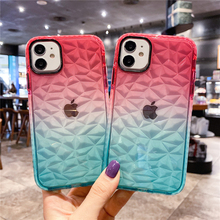Glitter 3D Diamond Dream Shell Phone Case for iPhone 11 12 Pro XS Max X XR 7 8 Plus SE 2020 Bling Crystal Soft TPU Clear Cover