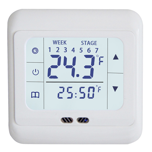 1Pc Touch Screen Digital Thermostat Floor Heating Room Thermostat Programmable Family Intelligence System