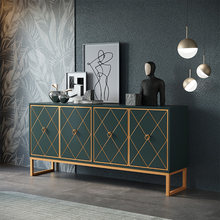 Pas cher moderne couloir luxe métal or console table(China)