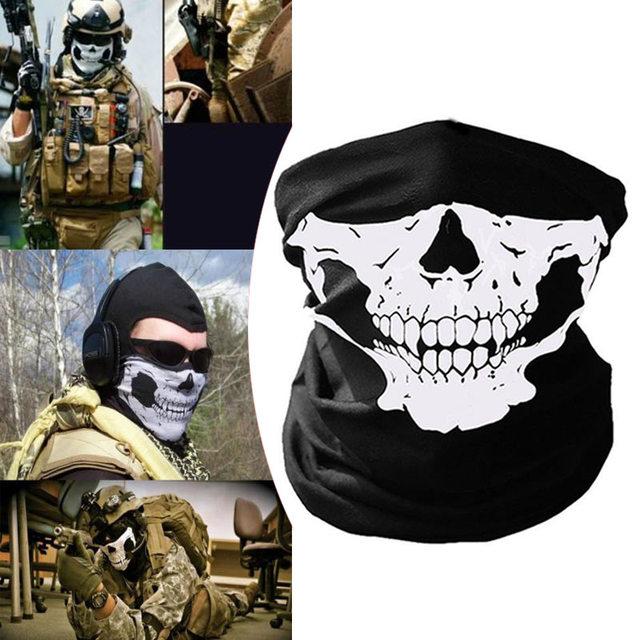 Black Skeleton Ghost Skull Face Mask Mouth Mask Biker Balaclava Costume Anti Dust Windproof Flu Mouth-muffle Bacteria 1