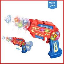 Детские электрические игрушки светящаяся музыка вращающийся пластиковый игрушечный пистолет Съемный пистолет игрушка подарок на день рождения родитель-ребенок интерактивные игрушки