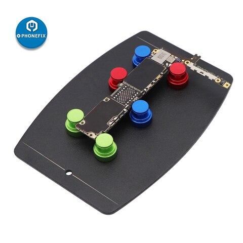 Placa de Circuito Plataforma de Solda Elétrico com 6 Universal Placa Titular Dispositivo Pçs Pinos Magnéticos Fixação Magnética Braçadeira Groove Pcb
