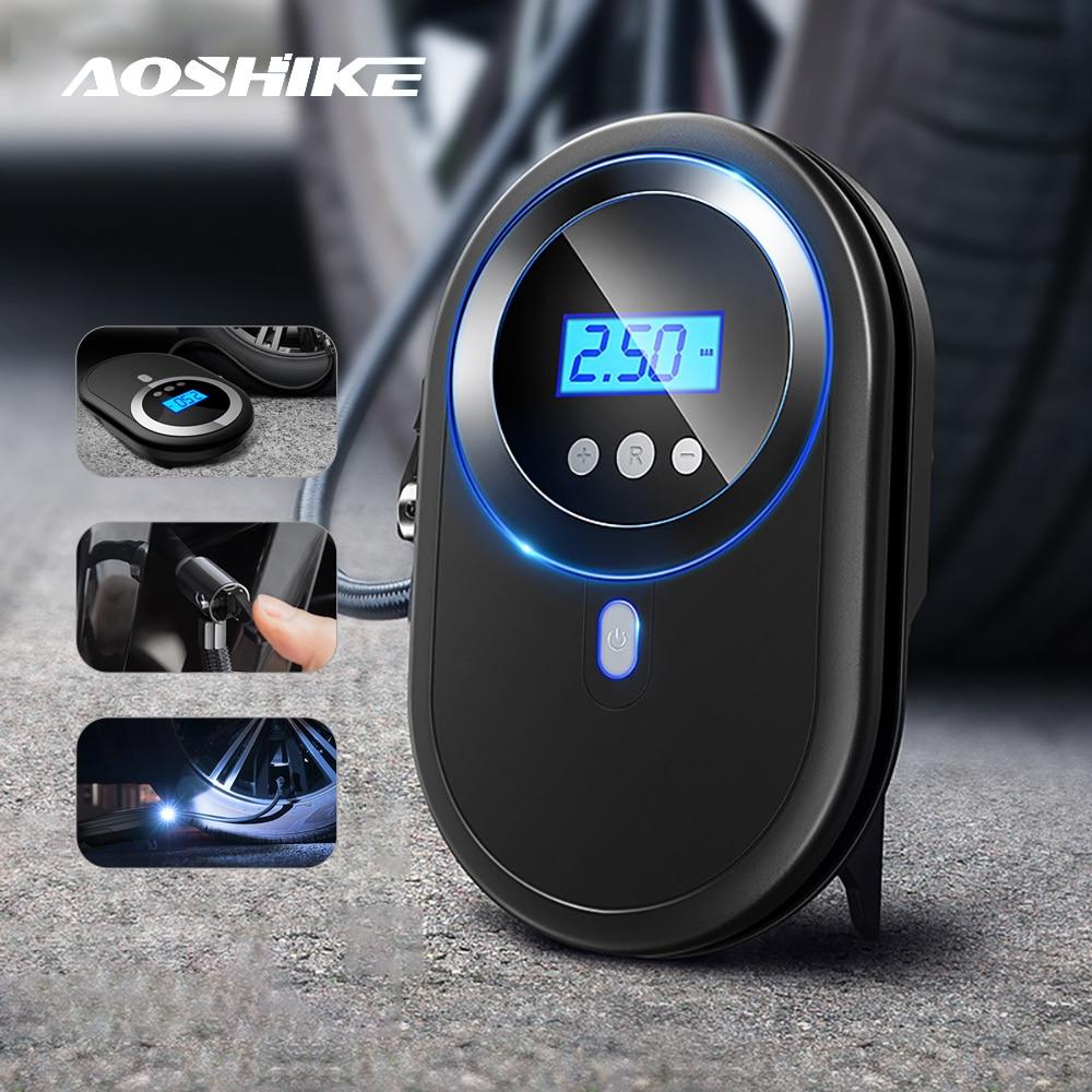 AOSHIKE 12V Car Air Compressor Mini Tire Inflatable Pump Electric Air Pump Compresor Portable Auto Pressure Tyre Inflator 2020