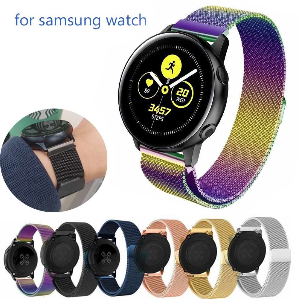 Milanese Strap For Samsung Galaxy Watch Active 2 40mm 44mm 46mm/42mm Gear S3 Frontier Band 22mm Stainless Steel Bracelet 20mm