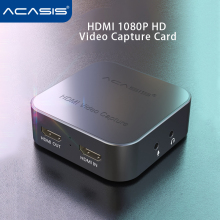 Acasis Usb 3.0 4K 1080P 60fps Video Capture Card Hdmi PS4/Switch/Ns/Xbox/camera Ondersteuning Mic Microfoon Pc Live Streaming