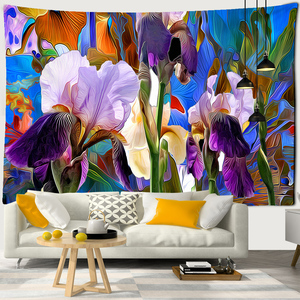 Abstract Oil Paint Wall Hanging Boheme Mandala Tapestry 3D Home Decor Living Room Background Wall Carpet Cloth Hippie Blanket