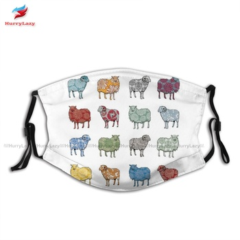 Adjustable Adults Baa Humbug Second Face Mouth Mask Fashion Cloth Pattern Facial Mask With Filter image