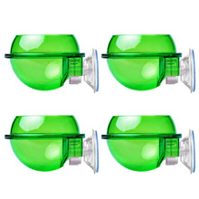 4Pcs Reptile Feeder with Suction Cup Lizard Wall Hanging Feeder Anti-Escape Bowl
