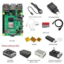 Switch-Line Eu-Power-Adapter Raspberry Pi 4-Model 32GB 2GB-RAM Tf-Card Complete-Kit:case