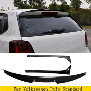ABS Black Rear Roof Spoiler Window Trim Wings for Volkswagen VW Polo Standard 2011-2018 Not For GTI R Boot Tail Side Winglet