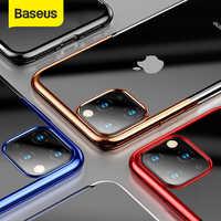Baseus caso de silicone de luxo para o iphone 11 pro caso para o iphone 11 pro max caso protetor do telefone volta coque capa