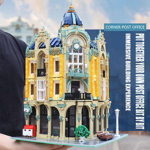 Image 3 - MOC 15002 15003 Street View Building Compatible With 10182 Cafe Conrner Led Light Model Building Blocks Kids Christmas Toys Gift