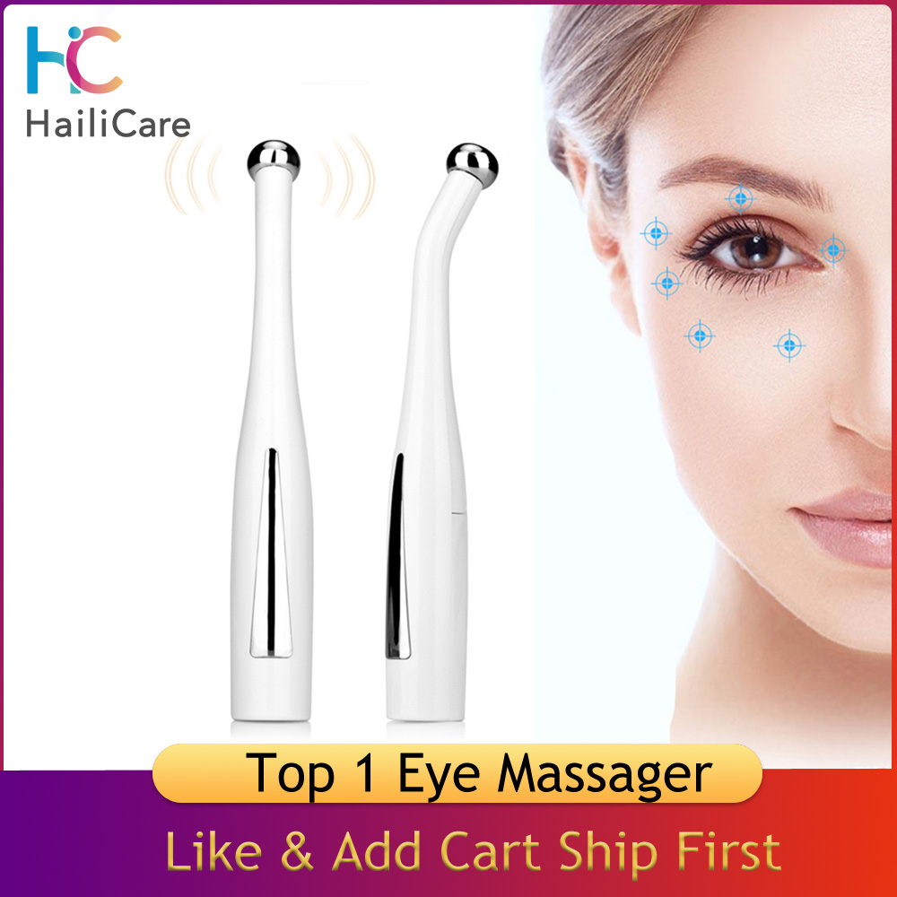 Vibrating Eye Massager Micro-current Eye Wand Negative Ion Importing Frown Lines Remover Anti Wrinkle Eyes Face Skin Care Tools