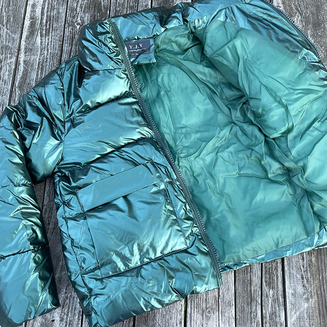 2021 Autumn Winter Women Parkas Jackets Casual Stand Collar Shiny fabric Thick Warm padded Coats Female Winter Outwear Jackets 6