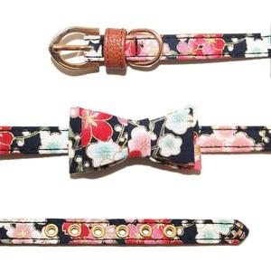 Image 5 - Benesaw PU leather Floral Bowtie smycz dla psa zestaw wygodny regulowany wyściełany szczeniak dla małych średnich psów