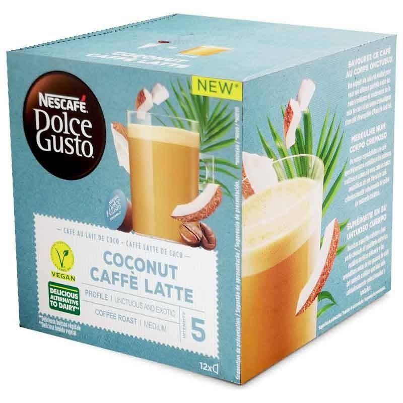 Coconut Caffè Latte, Coconut milk coffee 12 capsules Nescafé Dolce Gusto®Original