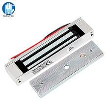 180KG elektromanyetik kilit DC12V elektrikli manyetik kilit 350lbs tutma kuvveti elektronik tek kapı kilitleri su geçirmez açık