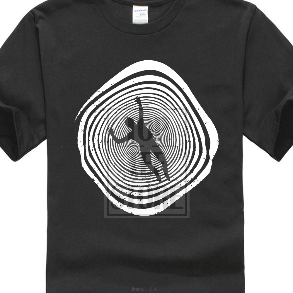Print Your Own Short Sleeve Men Strange Spiraling Illusion Loop Men'S Retro Hole My Friend O Neck T Shirts 028301 image