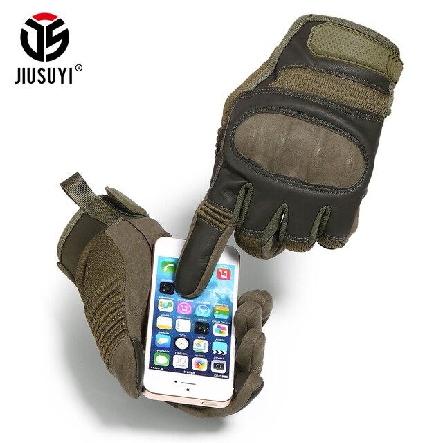 Tattico Militare Completa Finger Gloves Touch Screen di Airsoft di Combattimento Paintball Shooting Duro Knuckle Armatura Bicicletta di Guida Degli Uomini Guanto 3