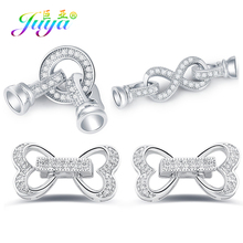 Juya DIY Jewelry Clasps Supplies Handmade Fastening Pearls Clasp Accessories For Natural Stone Pearls Jewelry Making Components cheap Micro Pave Zircon Connector Fastener Clasp Accessories 1 1cm Jewelry Findings Connectors Connector Buckle Fastener Clasp
