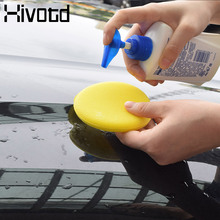 Hivotd Car Vehicle Wash Wax Sponge Applicator Pads Auto Body Glass Wash Cleaning Car Care Clean Kits Car Care Tools Accessories цена
