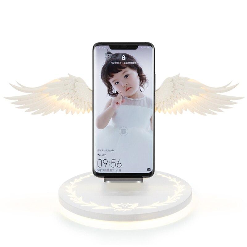 Chargeur sans fil 10W QI Angel Wings chargeur rapide pour Samsung Galaxy S10 Plus S9 + S8 Plus S7 Edge Xiao mi mi 9 mi x 3 2S Iphone X