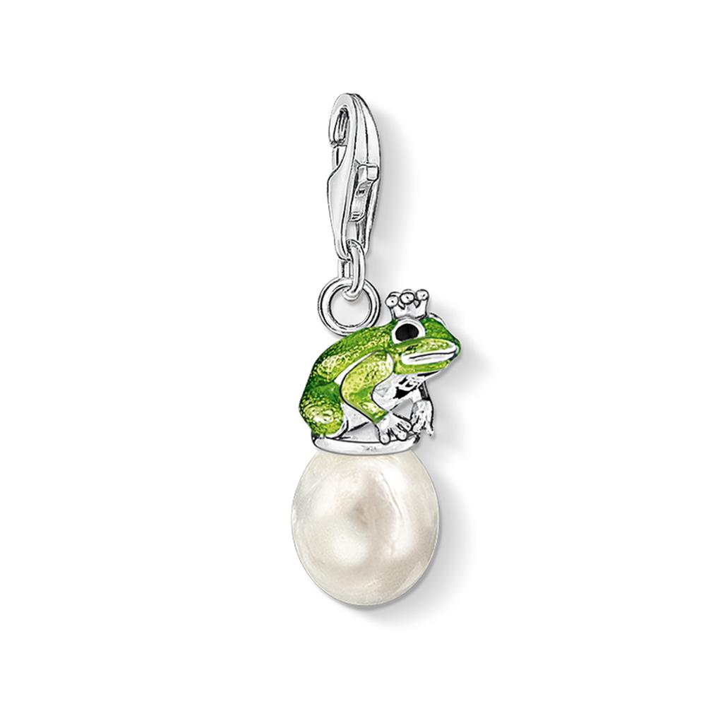Charms Frog With Pearl 925 Sterling Silver Lobster Clasp Pendants 2019 New Fashion Jewelry Making Handmade Craft For Women Men