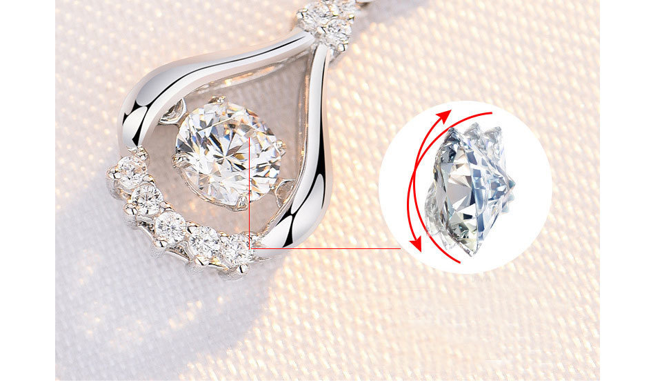 H460bd86f6efb42c1bea305333af6a17dA - WEGARASTI Silver 925 Jewelry Zircon Drop Earrings For Women Real 100% Silver Earring Wholesale Party Wedding Gift Earring Silver