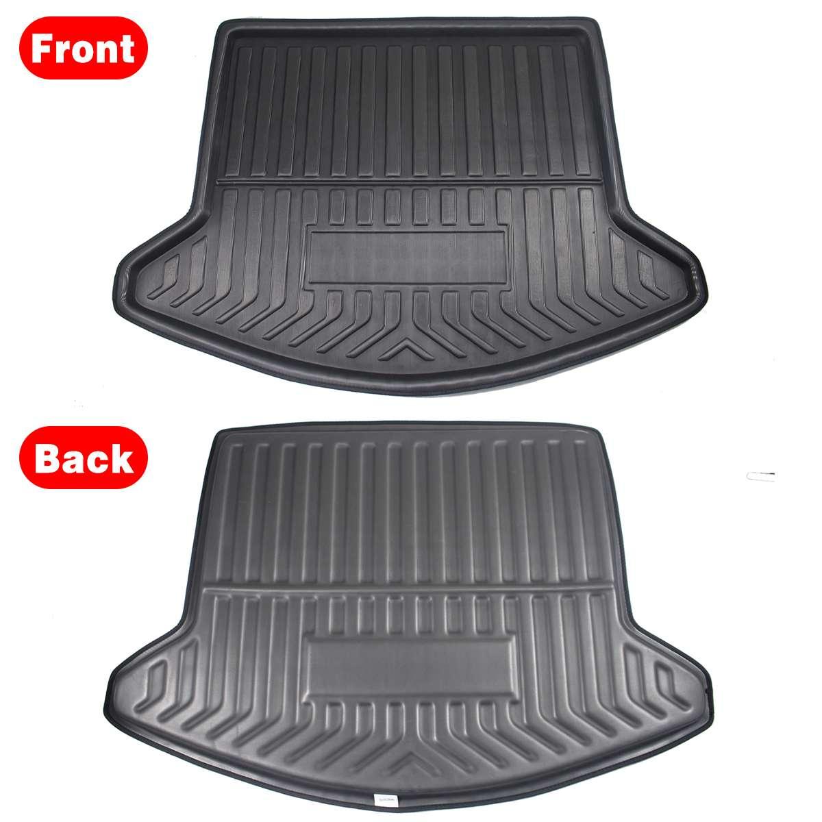 Image 4 - Cargo Liner Boot Tray Rear Trunk Cover Matt Mat Floor Carpet Kick Pad Mud Non slip For Mazda CX 5 CX5 MK2 2017 2018 2019 2nd