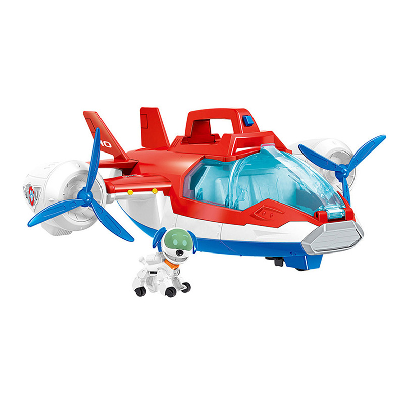 Paw Patrol Dog Deformation Aircraft Mission Music Base Bus Sliding Dog Rescue Team Toy Set Anime Action Figures Model Kids Toys