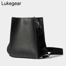 Lukegear 100% Handmade Handbags Retro Split Leather Women Bags