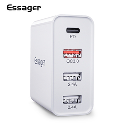 Essager 48W uniwersalna ładowarka USB szybkie ładowanie 3.0 QC3.0 QC PD typ C szybka ładowarka dla iPhone Xiaomi telefon komórkowy samsung telefon w Ładowarki do telefonów komórkowych od Telefony komórkowe i telekomunikacja na