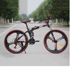Ultra-lightweight Mountain Bike 24/26 inch Dual Brake Folding Bicycle For Student Man And Women Adult for the bicycle