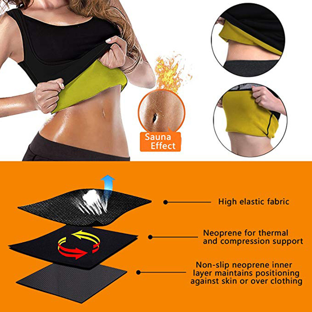 Men and Women Waist Trainer Slimming Corset Sweat Sauna Vest Body Shaper Gym