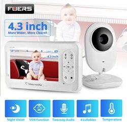 4.3 polegada vídeo monitor do bebê sem fio com câmera de áudio bidirecional babá câmera do bebê babá visão noturna detecção de temperatura