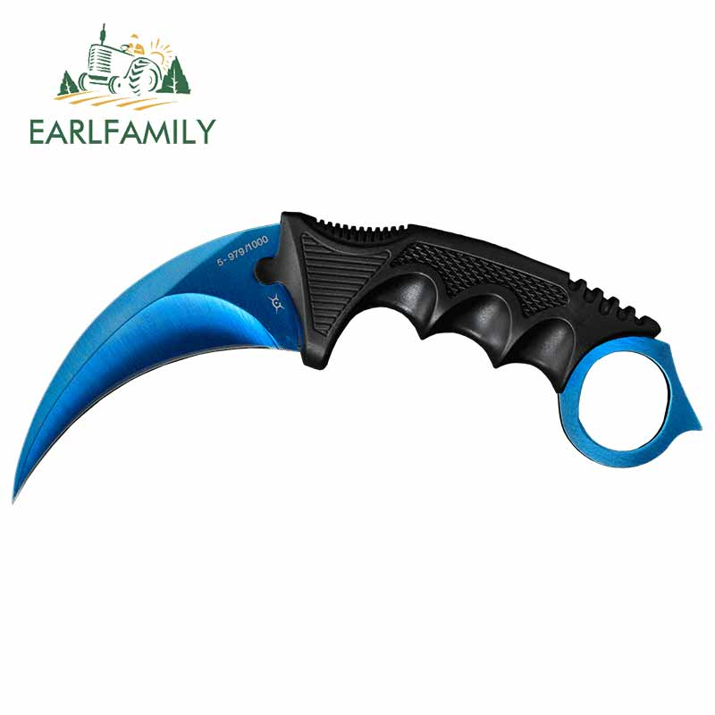EARLFAMILY 13cm X 5.5cm For Csgo Claw Knife Personality Creative VAN Car Stickers JDM Accessories Personality Bumper SUV Decor