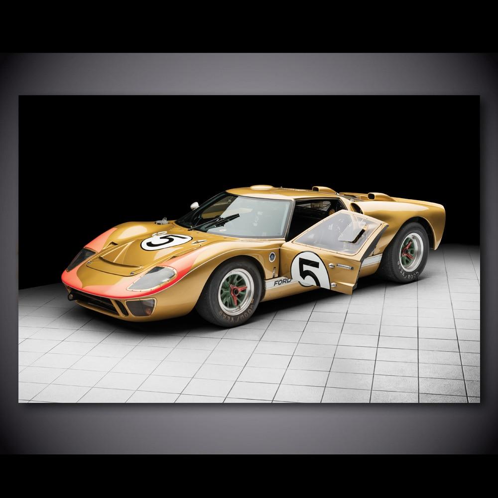 Ford Shelby FIA Cobra Racing Car Photo Automotive Wall Art Canvas Print Auto
