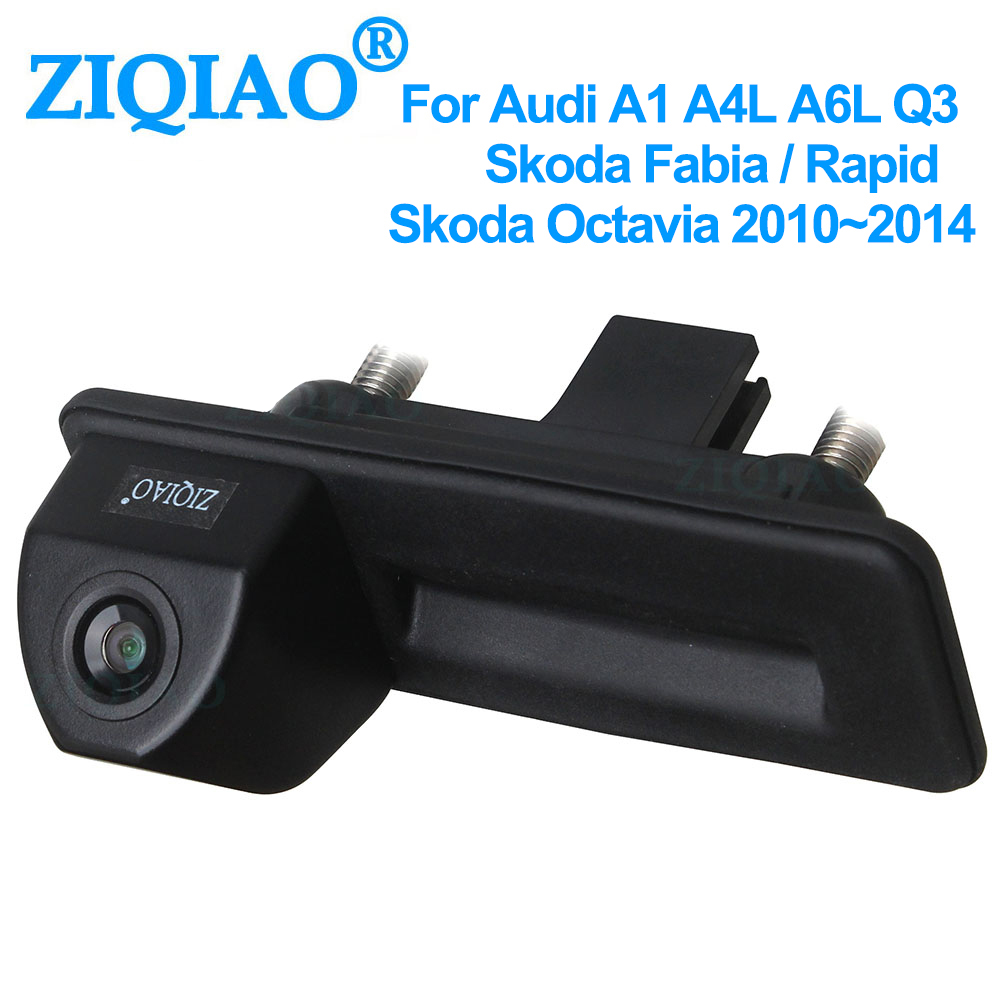 ZIQIAO for Skoda Fabia Octavia Yeti VW Passat Audi A1 Q3 A4L Trunk Handle Rear View Camera HS039 HS079