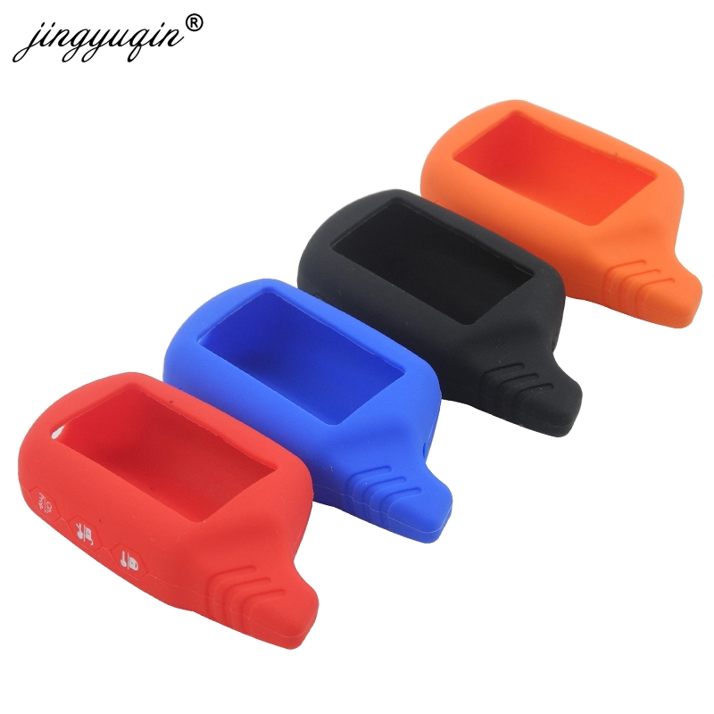 Jingyuqin B9/B6 Silicone Case untuk Starline B91 B61 A91 A61 KGB FX-5 Jaguar EZ-Satu LCD Gantungan Kunci mobil Remote 2 Way Alarm Kunci title=