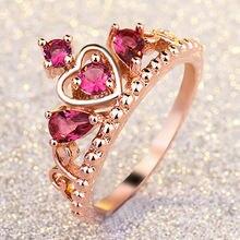 Женское кольцо из 18 каратного розового золота обручальное с