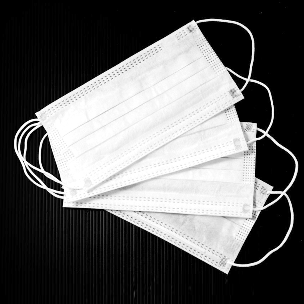 10/50pcs Disposable Face Masks Non Woven Medical Dental Earloop 