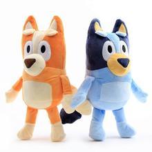 Плюшевая игрушка-бинго Bluey, 28 см, милая мягкая мультяшная собака, семейные набивные игрушки-животные, куклы, детские игрушки, милые детские п...