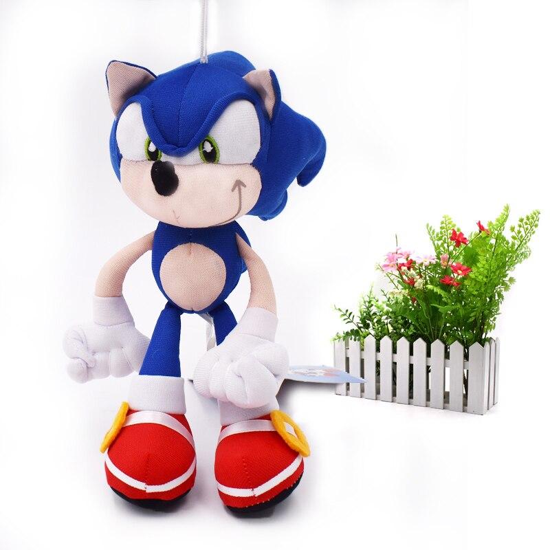 20 pcs/lot Blue Sonic Cartoon Animal Stuffed Plush Toys Figu…