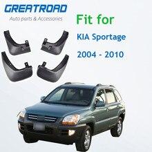Литые автомобильные брызговики для Kia Sportage 2004, 2005, 2006, 2007, 2008, 2009, 2010, брызговики, брызговики от грязи