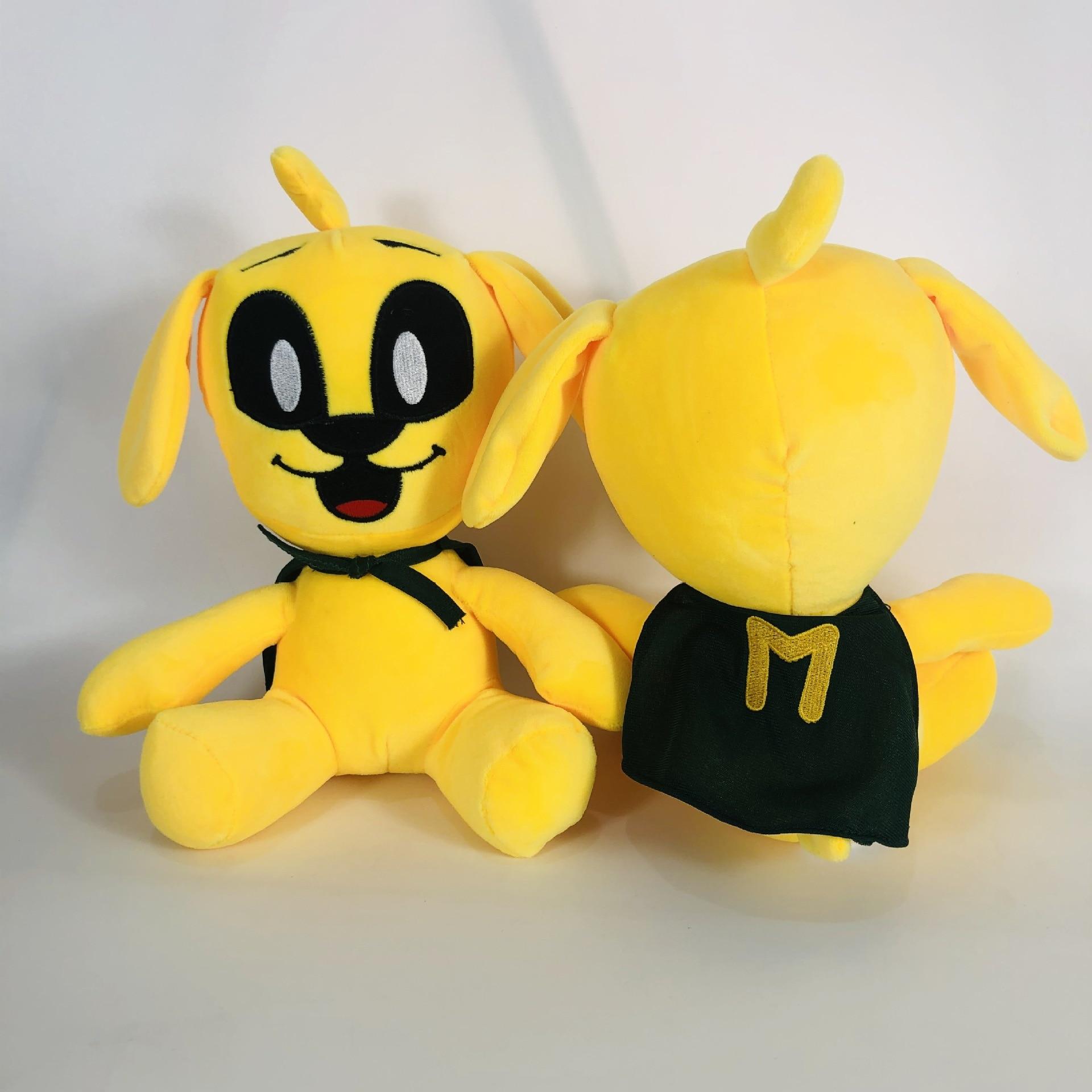 Мультяшная плюшевая кукла Mikecrack с Майком-трещиной, мягкая Набивная игрушка в виде желтой собаки, плюшевые игрушки для детей, девочек, подарк...
