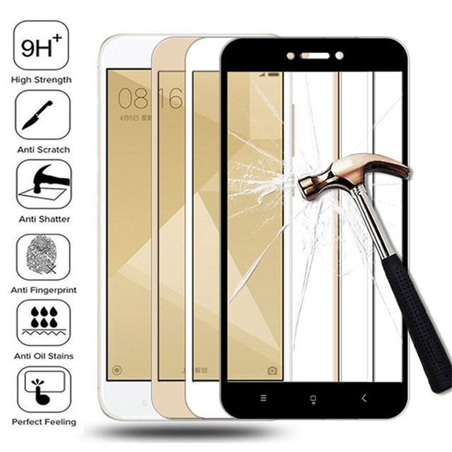 Protective Glass on the For Xiaomi Redmi 4A 4X 5A 5 Plus 6 6A 7A Redmi Note 4 4X 5 Pro Tempered Glass Screen Protector Film Case